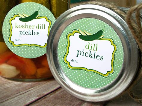 Cute Pickle & Relish Canning Labels for home canned