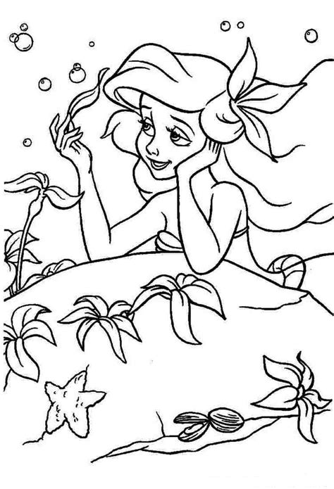 Ariel the Little Mermaid coloring pages for girls to print