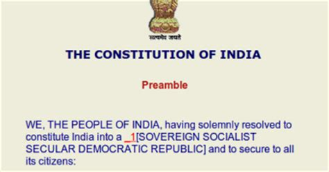 UPSC CSAT 2013: The Preamble Of Indian Constitution
