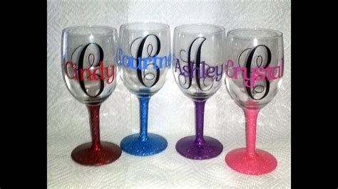 personalized wine glasses - YouTube