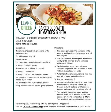 Pin by Nicole Donovan on Optavia 5 & 1 | Lean and green