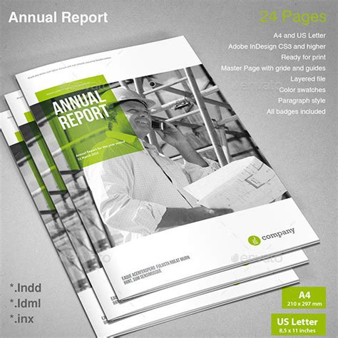40 Best Corporate InDesign Annual Report Templates | Web