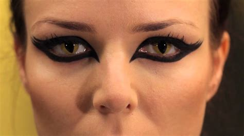 Yellow Cat Eye Coloured Contact Lenses - YouTube