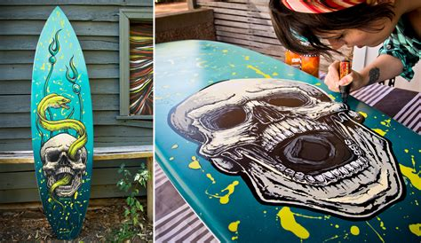 Fieldey, a Surf(board) Artist: Painting the Dream | The