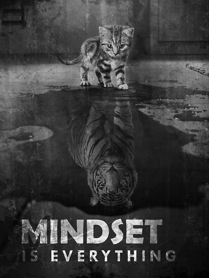 """""""Mindset Is Everything Tiger Cat"""" Poster by SuccessHunters"""