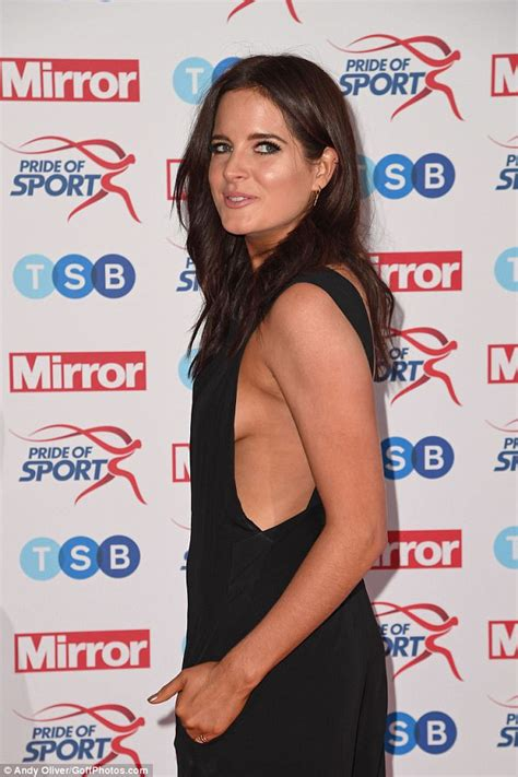 Binky Felstead flashes side-boob at Pride Of Sport Awards