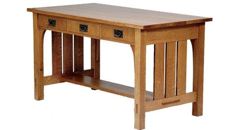 Arts & Crafts desk   Library table, Fine woodworking
