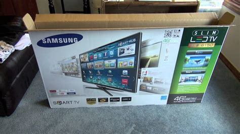 """Unboxing: Samsung 46"""" Smart LED TV (Series 6 