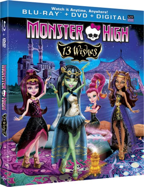 """Monster High™ Unearths New """"Monster High™: 13 Wishes"""" DVD"""