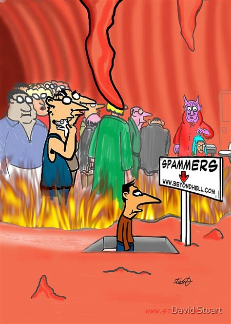 """""""Spammers In Hell Cartoon"""" by David Stuart   Redbubble"""