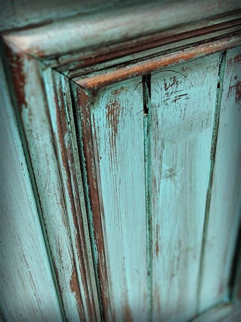 Turquoise rustic cabinet   General Finishes Design Center