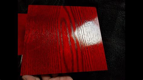 Red Dyes On Oak | Red Dye On Maple | Using Liquid Dyes On
