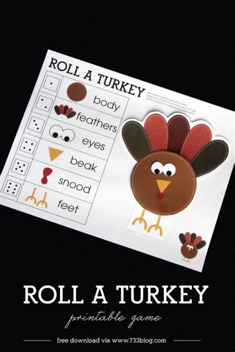 roll-a-turkey-game - Inspiration Made Simple