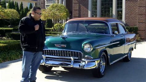 1955 Chevy Bel Air Resto Mod Classic Muscle Car for Sale in MI Vanguard Motor Sales - YouTube
