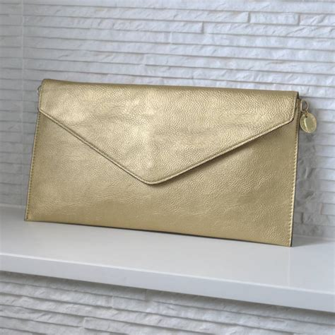 personalised metallic clutch bag by lily belle
