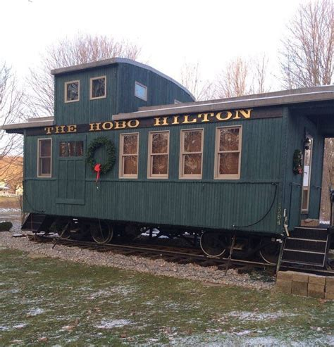 Couple's Tiny Caboose Cabin