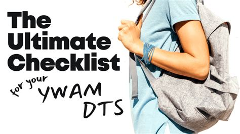 The Ultimate Checklist for your YWAM DTS - YWAM Asheville