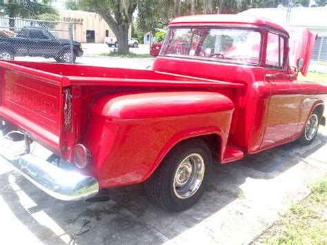 Buy used 1955 CHEVY PICKUP TRUCK WRAP AROUND WINDOW 55 RED CHEVROLET CHROME project in Lake Mary