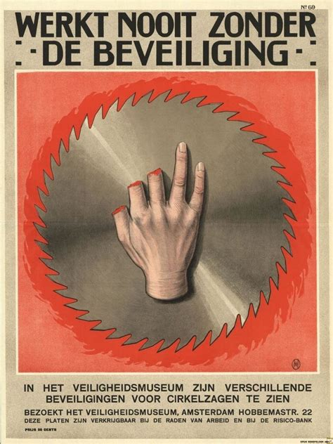 Vintage Dutch Safety Posters Look Like Horror Movie