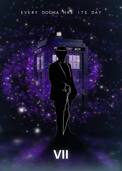 '7th Doctor with Tardis' Poster Print by Rykker o7